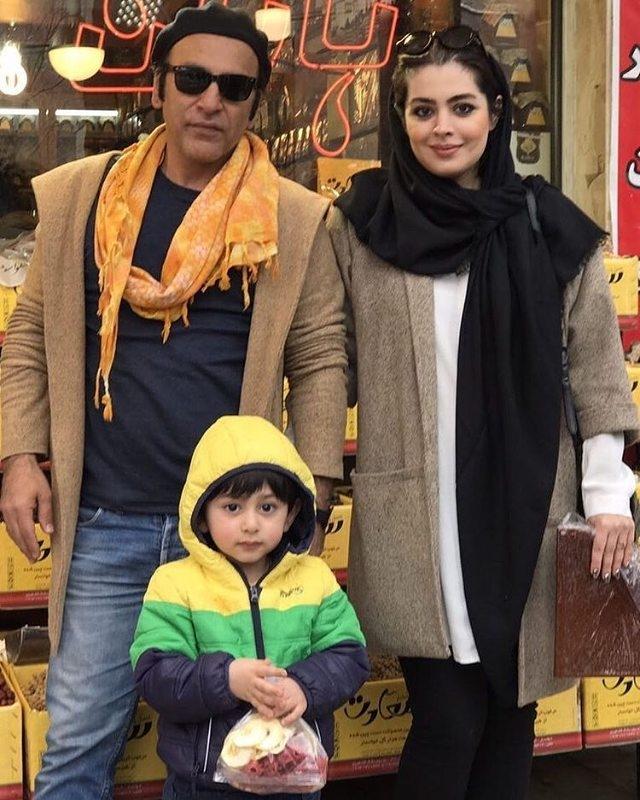 عکس: حمیدرضا آذرنگ در کنار همسر و فرزندش