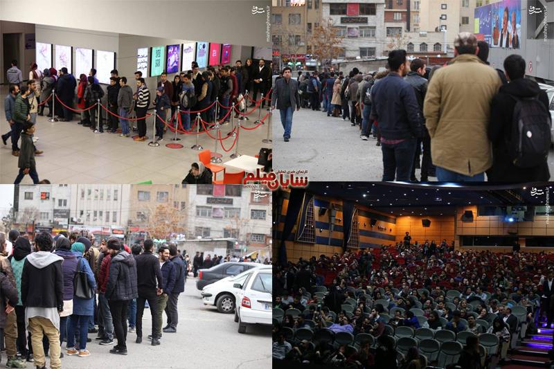 عکس/ صف های طولانی در جشنواره فیلم فجر