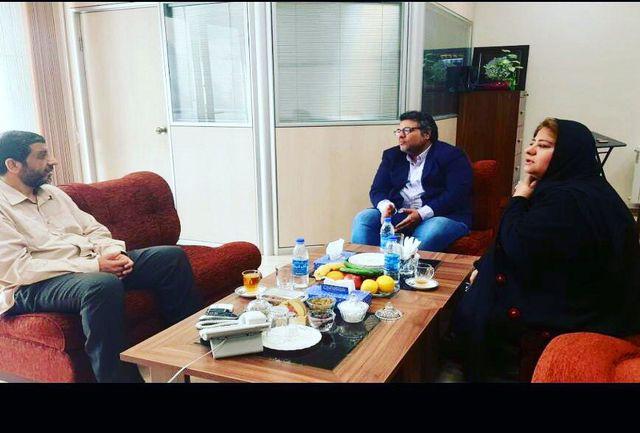 دیدار رئیس اسبق صداوسیما با رابعه اسکویی