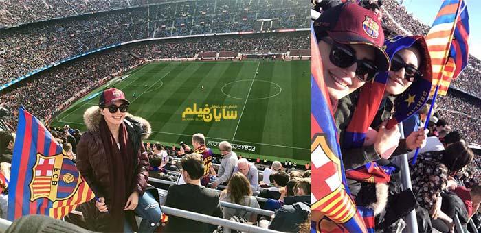 عکس: بازیگر زن ایرانی در ورزشگاه نیوکمپ!