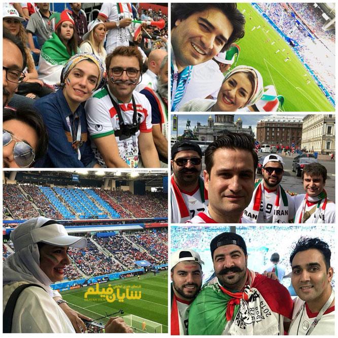 عکس/ هنرمندان ایرانی حاضر در جام جهانی روسیه