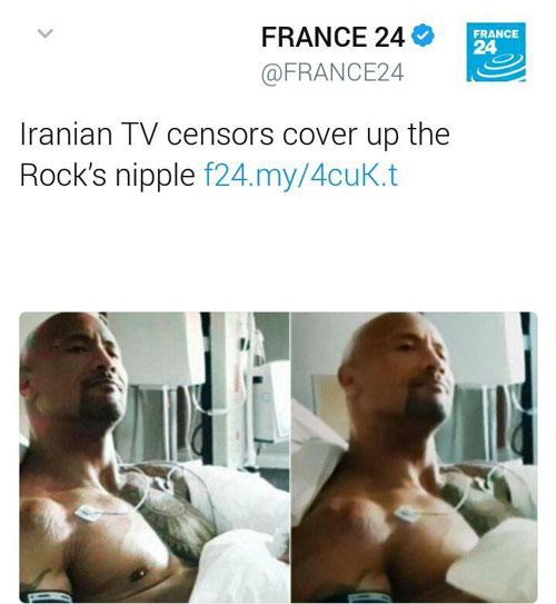 ببینید: سانسورِ  سینۀ یک بازیگر در تلویزیون ایران!