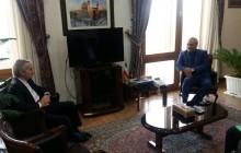 دیدار مهران مدیری با سخنگوی دولت