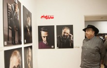 تصاویری از چهرههای نمایش ایران روی دیوار