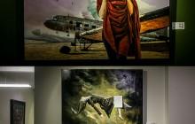 سانسورِ نوار چسبی در یک گالری نقاشی +عکس