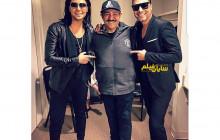 مهران غفوریان در کنار دو خوانندۀ لُس آنجلسی